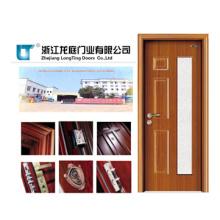 Puerta de acero interior de madera (LTG-203)