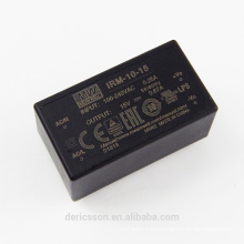MEAN WELL miniature encapsulated open frame 10W 15V Power Supply IRM-10-15