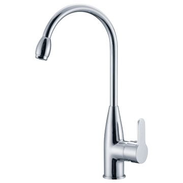 Single Lever, Spout, Mixer Dapur Kuningan