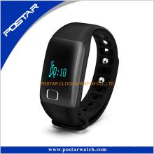 un + bracelet de silicone de podomètre de téléphone de montre de moniteur de fréquence cardiaque de qualité +