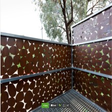 Cortinas decorativas para jardín Corten Steel Metal