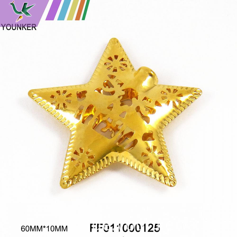 Gold Star Metal Ornament