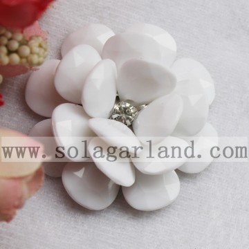 54MM acryl ondoorzichtige grote Beaded Flower Fancy kraal Blossom