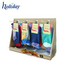 Crochets forts de vente au détail accrochant le support d'affichage de chaussettes d'emballage