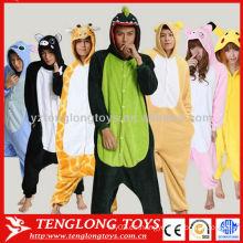 Estilos de animales pijama de traje SML XL