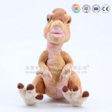 Stuffed purple and pink animals plush dinosaur toy