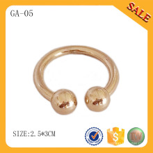 GA05 Garment accessories gold round metal tag for clothing