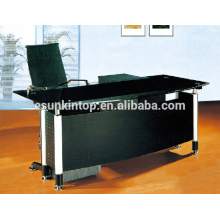 L shape office desk with glass top designs , High quality office furniture for high quality to go! (P8060)
