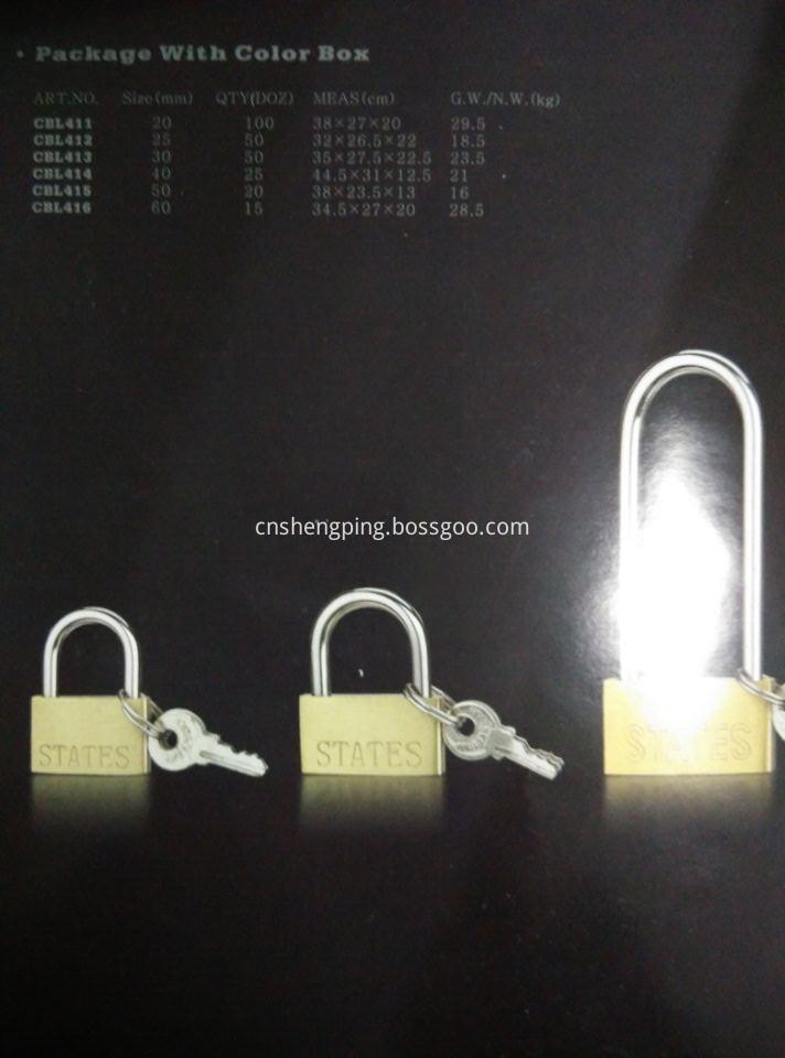 Thin Brass Lock Catalog
