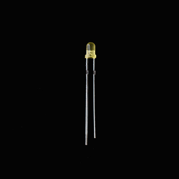 Super Bright 3mm Yellow LED diffus 590nm