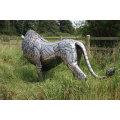 Löwen Skulptur aus Edelstahl VSSSP-27S