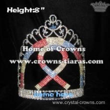 8in Height Rhinestone Pageant Ribbon Crowns