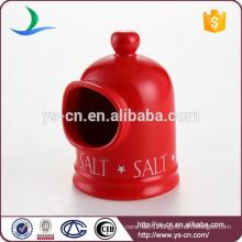 Cute red ceramic kitchen salt shaker