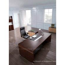 Móveis de escritório de mesa executivos executivos modernos de madeira de carvalho preto (HF-SID001)