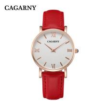 Cagarny кварцевые часы с IP Gold покрытием 4roman буквы на циферблате