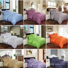 Stock Satin Streifen Bettwäsche Set Bettlaken für Hotel / Home (DPF1059)