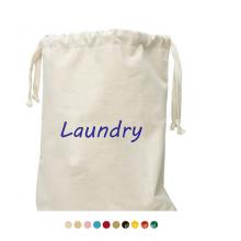 Custom Printed Logo Large Heavy Duty Drawstring Wash Laundry Bag Storage Portable Canvas Laundry Bag