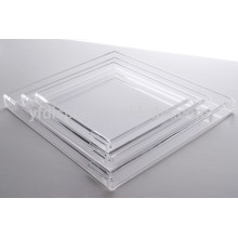 Hot Selling Clear Acrylic Serving Trays Wholesale