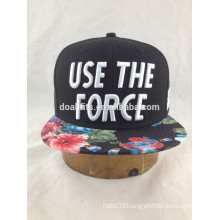 cheap custom snapback caps with 3D embroidery sold in supermarket made in china