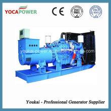 Mtu motor 700kw agua refrigeración diesel generador conjunto para la venta caliente
