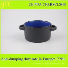 Керамическая чаша 300 мл с двойными держателями, Керамическая чаша для супов