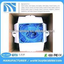 СИНИЙ 305m / 1000ft CAT6 UTP Ethernet LAN Network CAT 6 Шнур для кабельного кабеля Проволочный блок