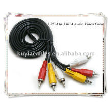 Câble 3 RCA à 3 RCA avec audio vidéo pour DVD TV