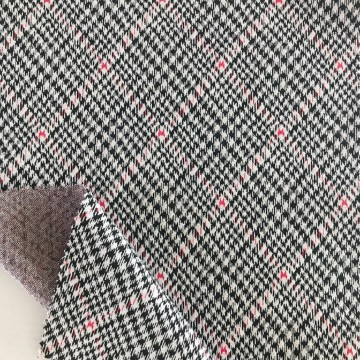 Houndtooth Design Strick Jacquard