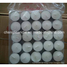 White Unscented Paraffin Wax Tea-Light Candle