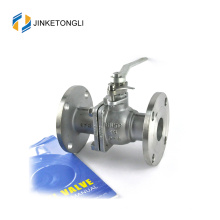 JKTLFB022 aço inoxidável a216 wcb 2pc lida com válvula de esfera aberta