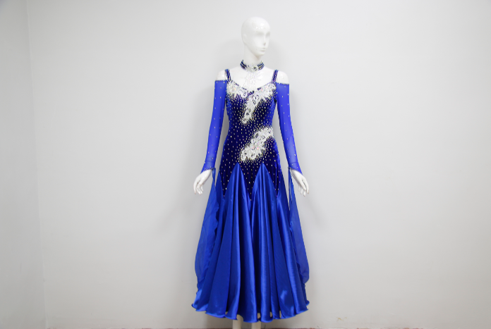 Salsa Costumes For Competition Blue