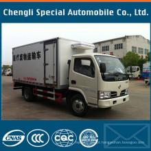Fábrica 4tons a 5tons Dongfeng marca caminhão de refrigeração de caminhão