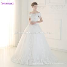 Luxurious Pearls Beaded Wedding Dresses High Quality Lace Applique Tassel Cap Sleeve Dubai Ball Gown Wedding Gown Bride Dress