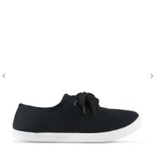 Wholesale black sneaker canvas women casual shoes