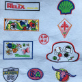 Patch per ricamo badge loop design personalizzato per vestiti