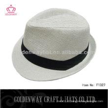 Autocollant bon marché à bas prix Homme White Fedora Hat