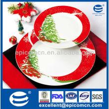 7pcs porcelain cake set EX8201B for Christmas gift