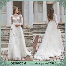 Alibaba Vestido de Noiva Brautkleider online erstklassige Brautkleid Langarm bohemian Brautkleid