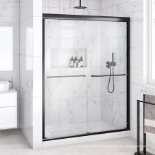 Seawin aluminum hardware full Frame Double rolling screen Sliding Tempered Glass Shower Doors