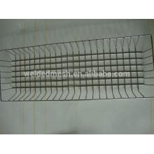 Cesta rectangular de malla de alambre de acero inoxidable