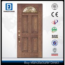 Fiberglas-Panel-Tür mit Glastürgriffen
