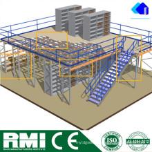 Sistema de Rack de Mezanino Reforçado de Múltiplas Camadas
