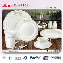 Bulk preiswerte weiße Großhandelsrunde flache keramische Porzellan-Abendessen-Platte