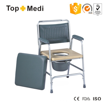 Cheap Commode Wheelcair with Big Bedpan