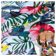 high elastic biflex smooth flower printed polyamide 80 elastane 20 fabric for swimsuit