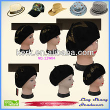 LSW04 Promoção 2014 Moda nova estilo no inverno feito de 100% lã Ladies 'Hat