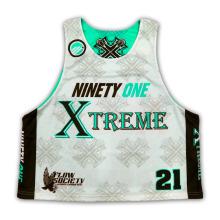 Personalizar Equipe Homem Reversível Sublimação Lacrosse Uniformes Camisas