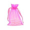 solid color hot seal beautiful organza pouch