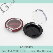 Transparent Lid One Grid Round Eye Shadow Case AG-ES1099, AGPM Cosmetic Packaging, Custom colors/Logo