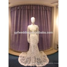 2017 new dew deep V collar sexy fishtail skirt elegant mermaid lace wedding dress skirt LJ10014